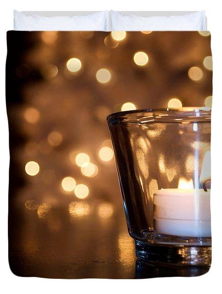 Warm Christmas Glow Duvet Cover by Lisa Knechtel