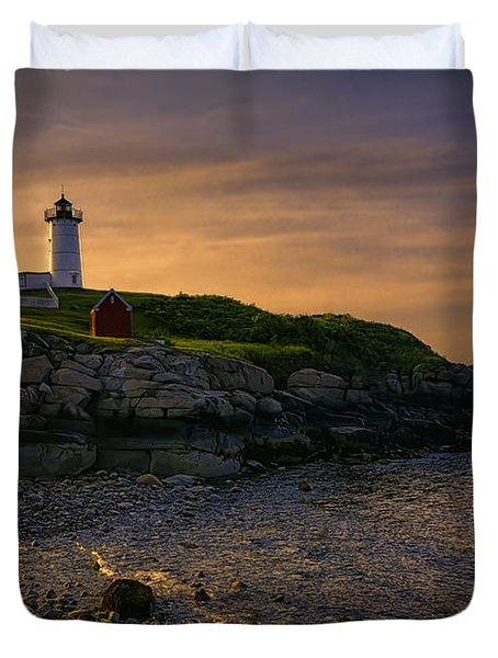 Warm Nubble Dawn Duvet Cover by Joan Carroll