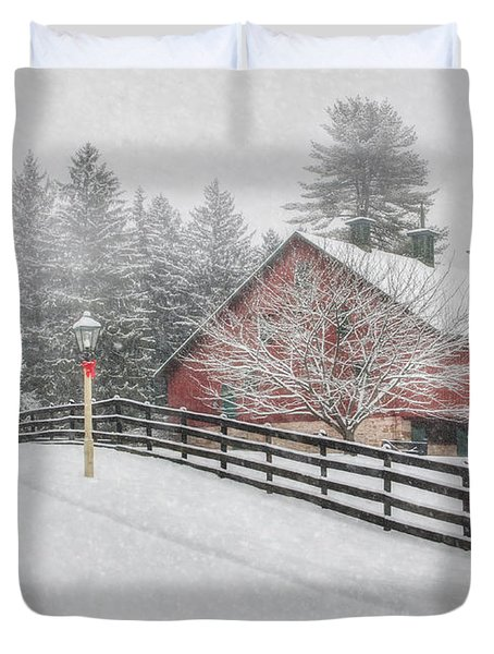 Warmest Holiday Wishes Duvet Cover by Lori Deiter
