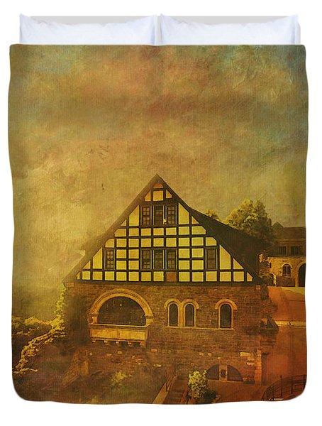 Wartburg Castle Duvet Cover by Catf