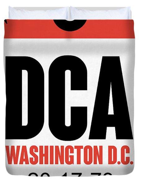 Washington D.c. Airport Poster 1 Duvet Cover by Naxart Studio