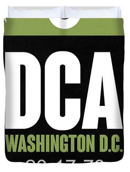 Washington D.c. Airport Poster 2 Duvet Cover by Naxart Studio