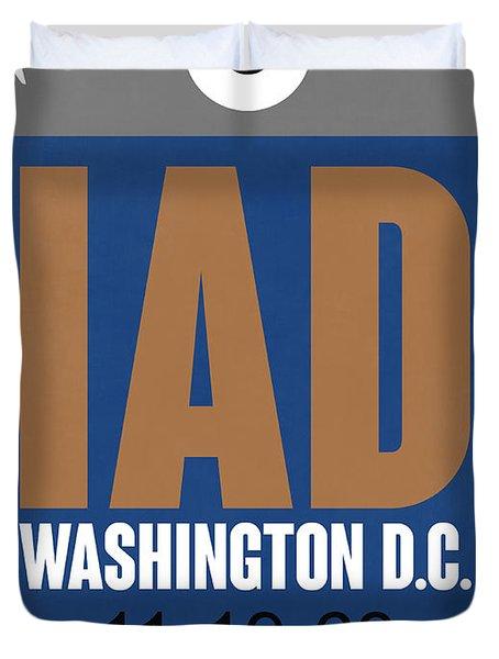 Washington D.c. Airport Poster 4 Duvet Cover by Naxart Studio