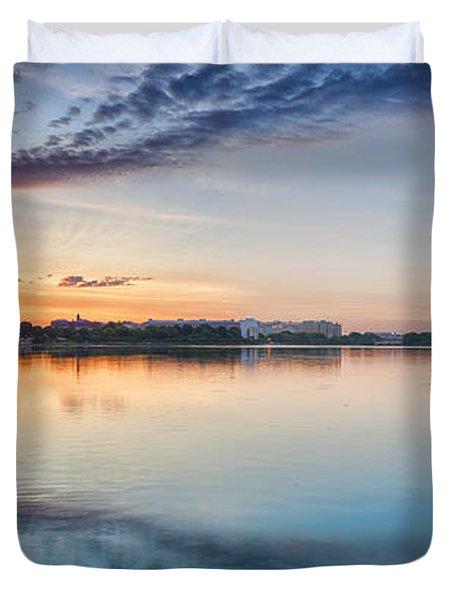 Washington Dc Panorama Duvet Cover by Sebastian Musial