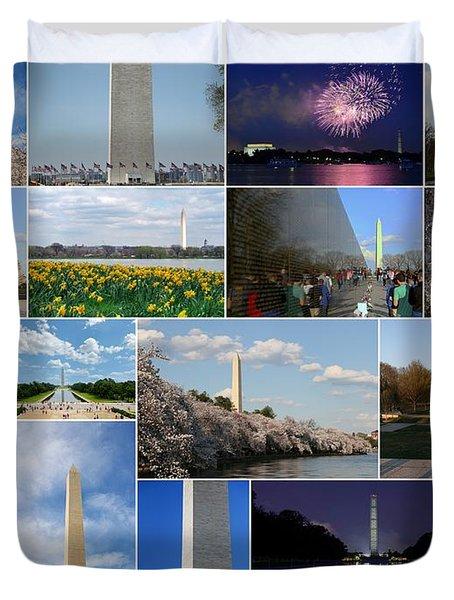 Washington Monument Collage 2 Duvet Cover by Allen Beatty