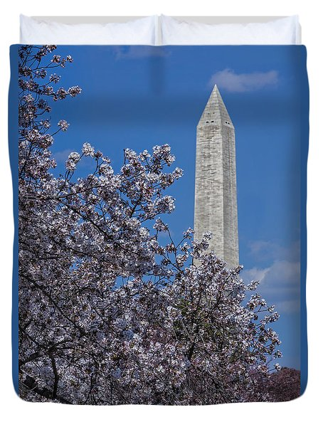 Washington Monument Duvet Cover by Susan Candelario