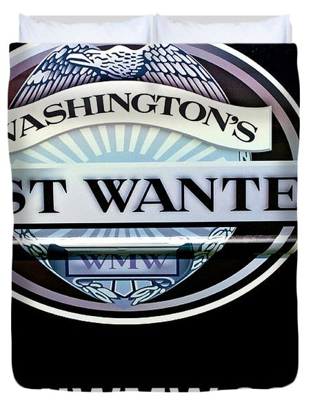 Washington's Most Wanted Duvet Cover by Roger Reeves  and Terrie Heslop