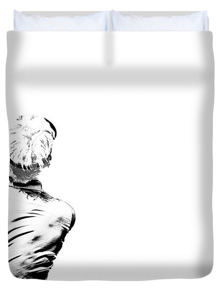 Watching And Hoping Duvet Cover by Karol Livote