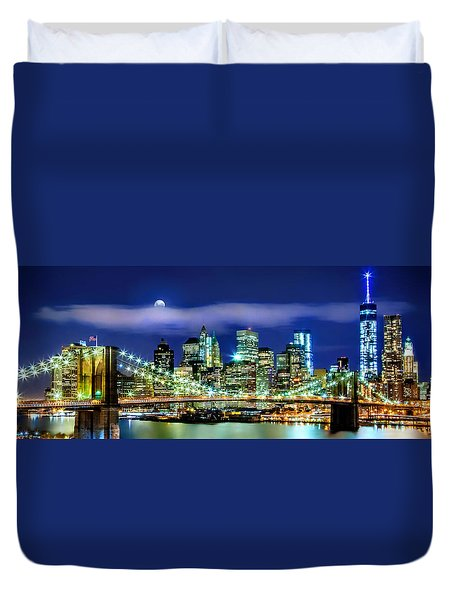 Watching Over New York Duvet Cover by Az Jackson