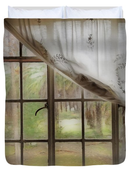 Watching The Rain Duvet Cover by Cheryl Young