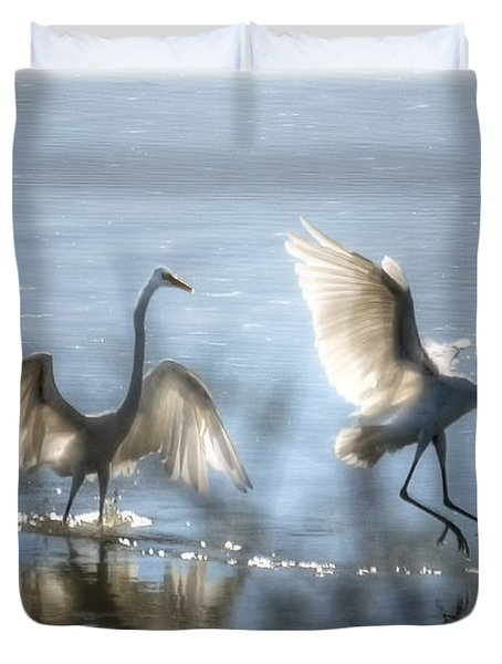 Water Ballet  Duvet Cover by Saija  Lehtonen
