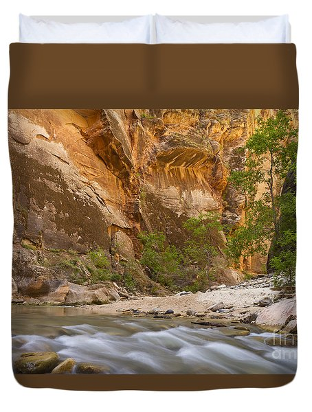 Water In The Narrows Duvet Cover by Bryan Keil