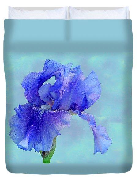 Water Iris Duvet Cover by Nikolyn McDonald