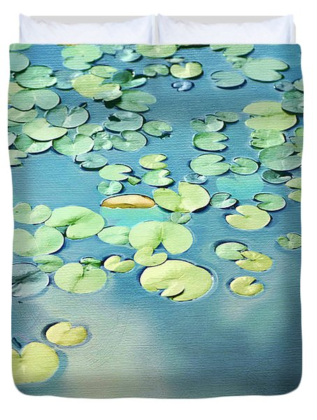 Water Lilies Duvet Cover by Darren Fisher