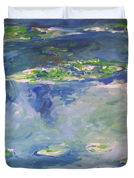 Water Lilies Giverny Duvet Cover by Eric  Schiabor