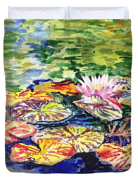 Water Lilies Duvet Cover by Irina Sztukowski
