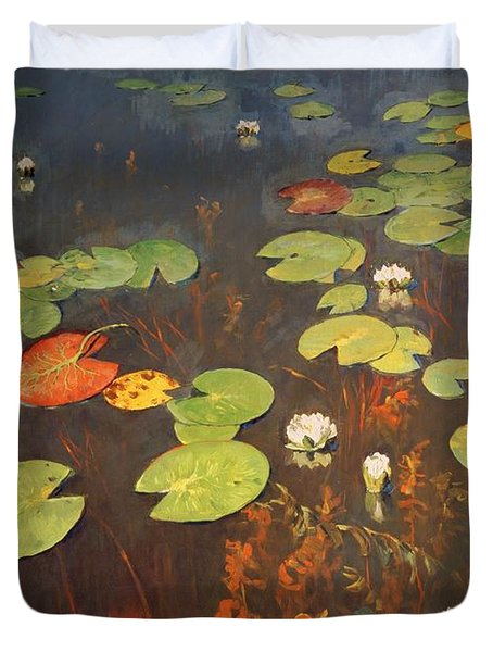 Water Lilies Duvet Cover by Isaak Ilyich Levitan