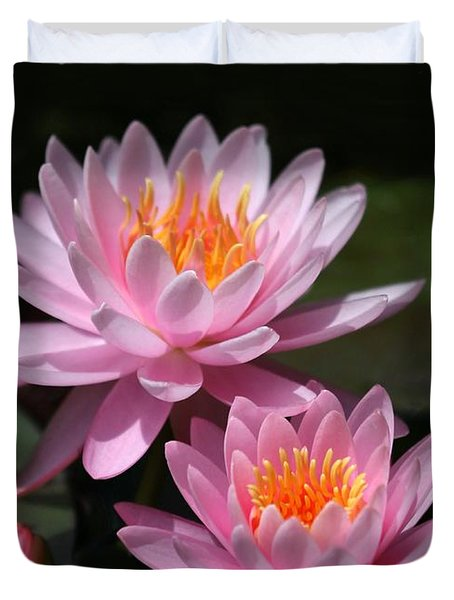 Water Lilies Love the Sun Duvet Cover by Sabrina L Ryan
