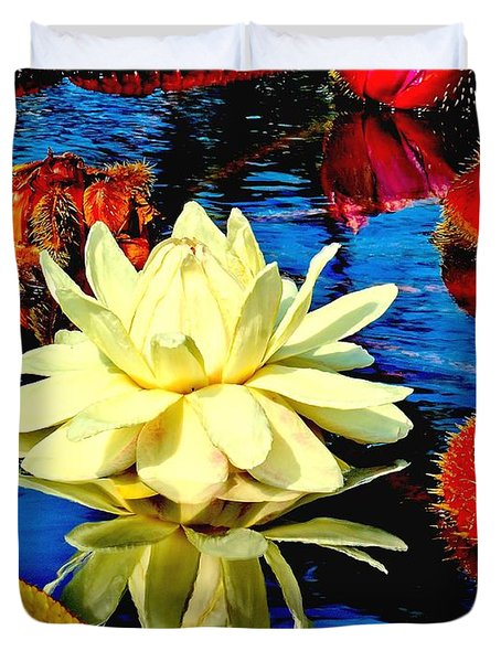 Water Lilly Pond Duvet Cover by Nick Zelinsky