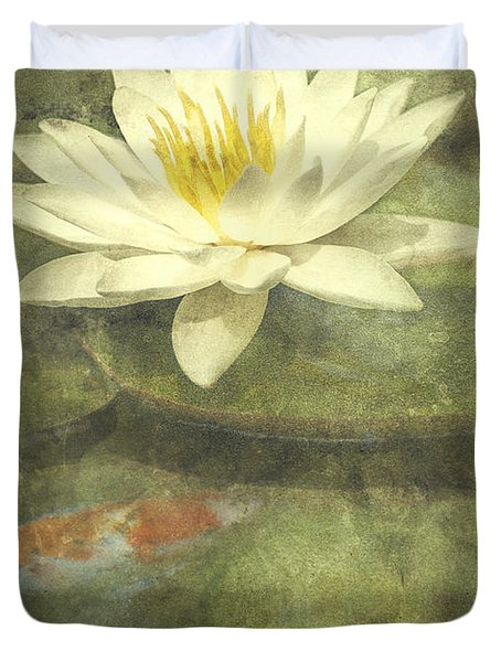 Water Lily Duvet Cover by Scott Norris