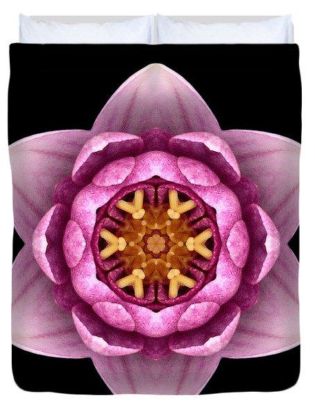 Water Lily X Flower Mandala Duvet Cover by David J Bookbinder