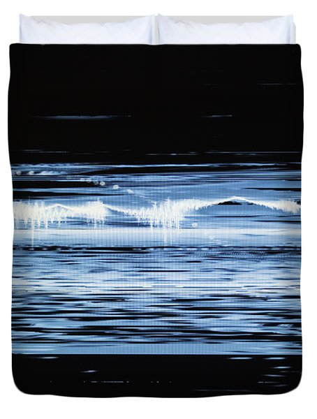 Water No. 2 Duvet Cover by Nasser Studios