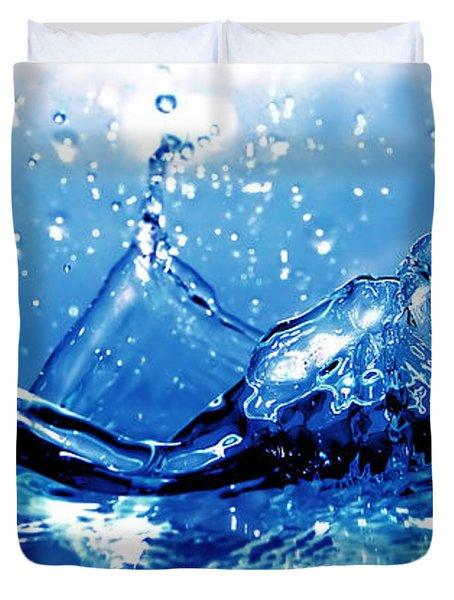 Water Splash Duvet Cover by Michal Bednarek
