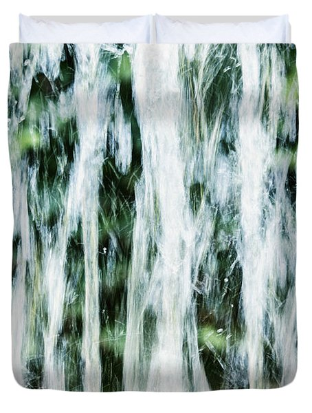 Water Spray Duvet Cover by Margie Hurwich