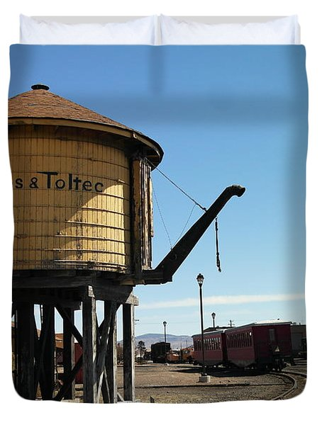 Water Tower Duvet Cover by Jeff Swan