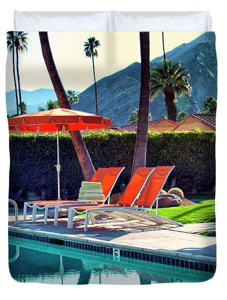 Water Waiting Palm Springs Duvet Cover by William Dey