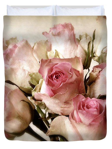 Watercolor Bouquet Duvet Cover by Jessica Jenney