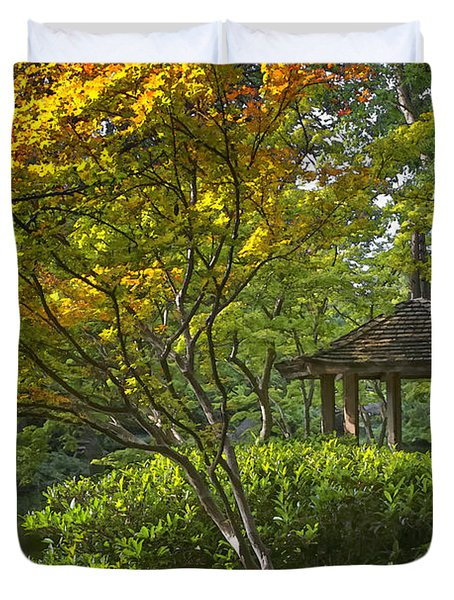 Watercolor Gardens Duvet Cover by Joan Carroll