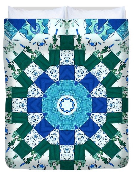 Watercolor Quilt Duvet Cover by Barbara Griffin