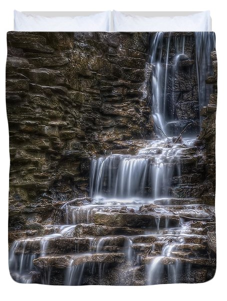Waterfall 2 Duvet Cover by Scott Norris