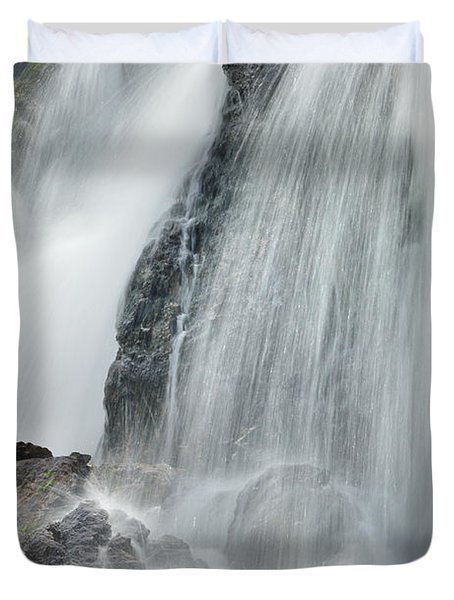 Waterfall In Spring Duvet Cover by Guido Montanes Castillo