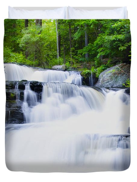 Waterfall In The Pocono Mountains Duvet Cover by Bill Cannon