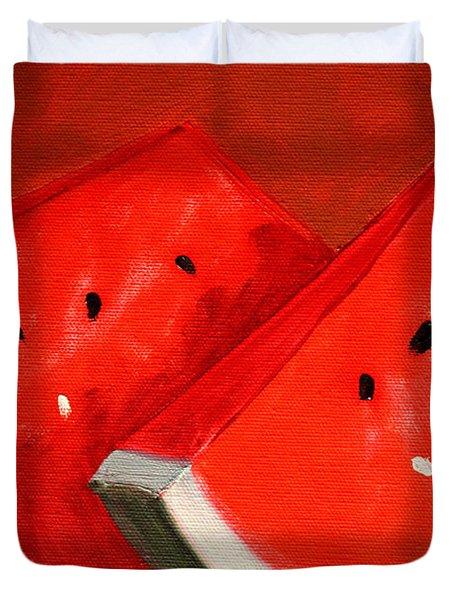 Watermelon Duvet Cover by Nancy Merkle