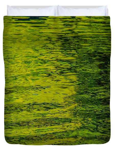 Water's Green Duvet Cover by Roxy Hurtubise
