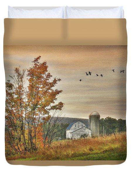 Watkins Glen Farm Duvet Cover by Lori Deiter