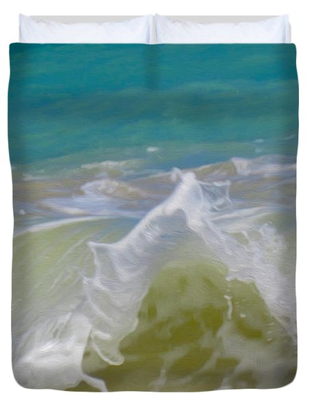 Wave 3 Duvet Cover by Cheryl Young