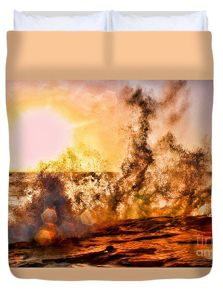 Wave Crasher La Jolla By Diana Sainz Duvet Cover by Diana Sainz
