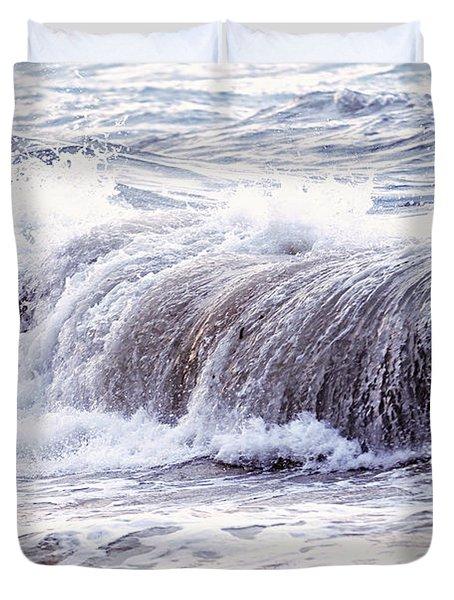 Wave In Stormy Ocean Duvet Cover by Elena Elisseeva