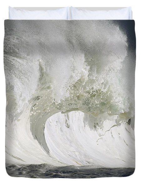 Wave Whitewash Duvet Cover by Vince Cavataio