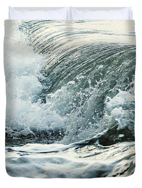 Waves In Stormy Ocean Duvet Cover by Elena Elisseeva