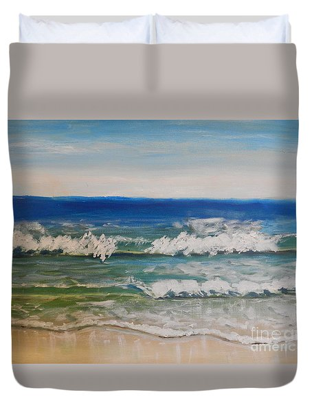 Waves Duvet Cover by Pamela  Meredith