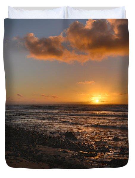 Wawamalu Beach Sunrise - Oahu Hawaii Duvet Cover by Brian Harig
