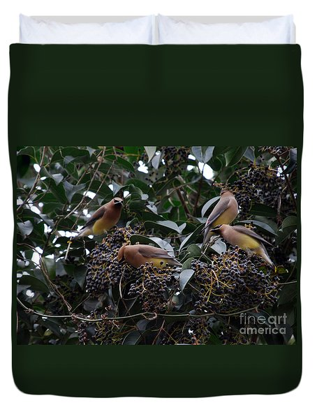 Wax Wings Supper  Duvet Cover by Skip Willits