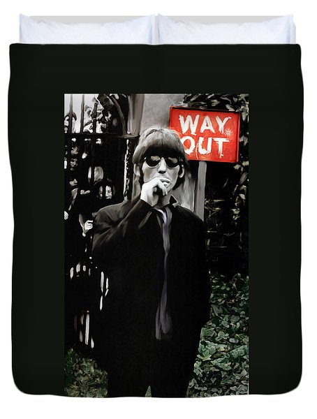 Way Out  George Harrison Duvet Cover by Iconic Images Art Gallery David Pucciarelli