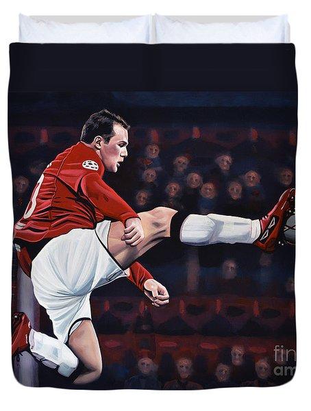 Wayne Rooney Duvet Cover by Paul Meijering