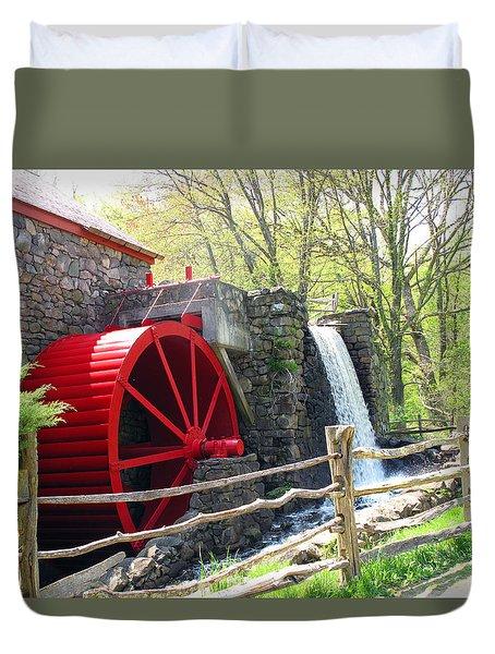 Wayside Inn Grist Mill Duvet Cover by Barbara McDevitt